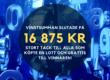 Vinstsumman blev 16 875 kr i 50/50-lotteriet #september